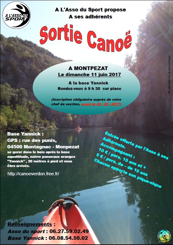 Sortie Canoé au Gorges du VERDON @ montpezat | Montagnac-Montpezat | France