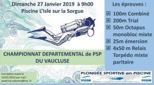 Compétition de PSP à l'Isle sur la Sorgue @ Piscine municipale